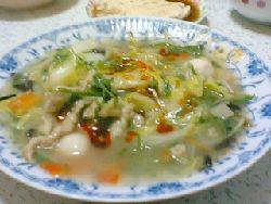 八宝菜 + 石垣島ラー油