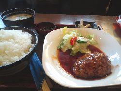 喫茶・お食事処 COCO のハンバーグ定食