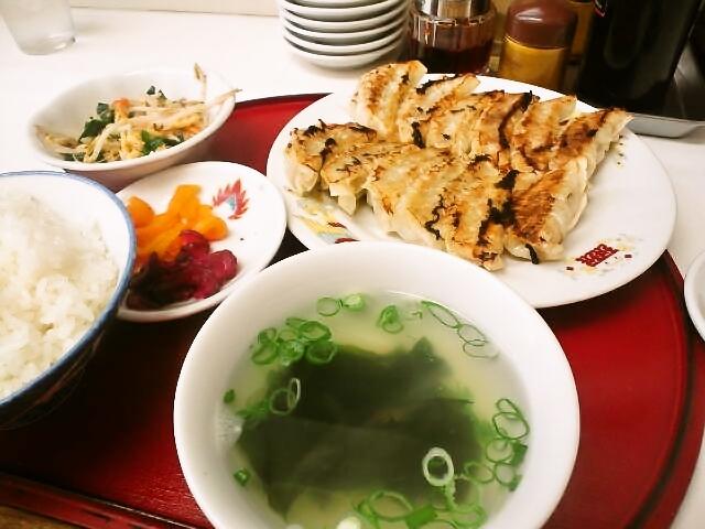 特別に作ってもらった珉珉の餃子定食