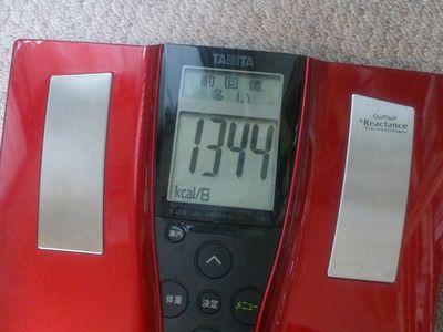 基礎代謝の測定値