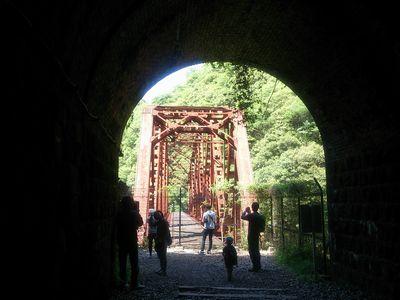 武田尾廃線ハイキングコースの第3のトンネルの出口